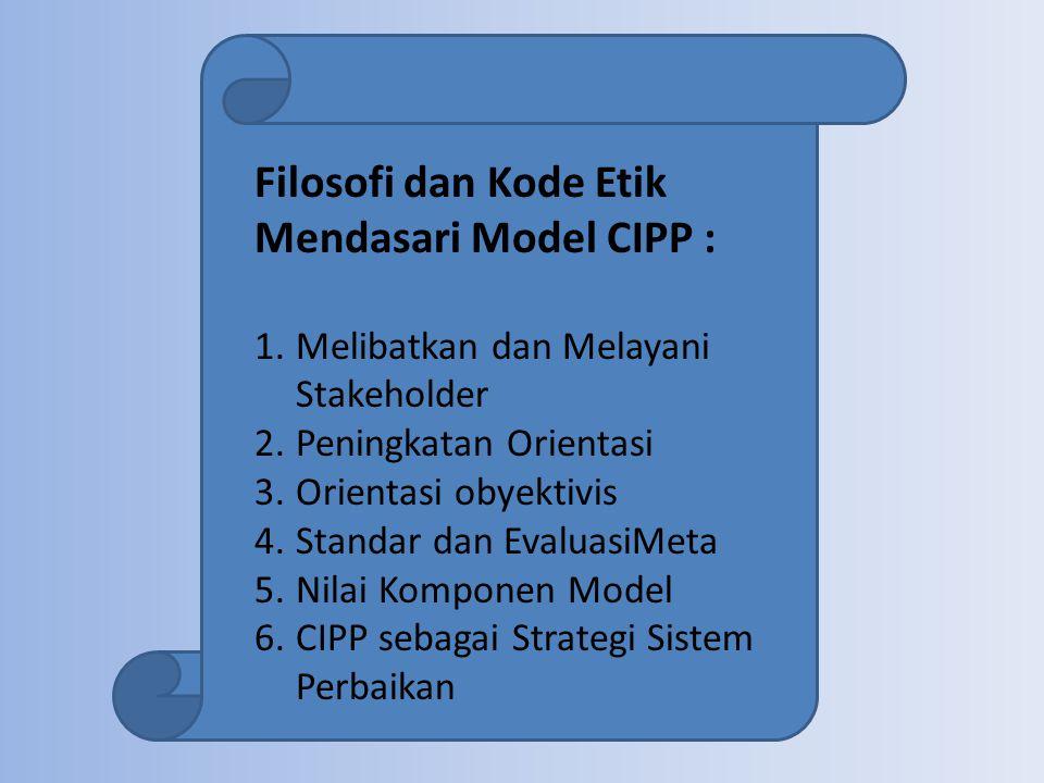 Filosofi dan Kode Etik Mendasari Model CIPP :