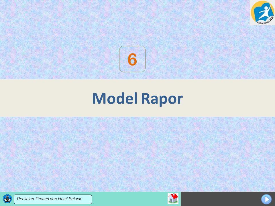 6 Model Rapor Penilaian Proses dan Hasil Belajar