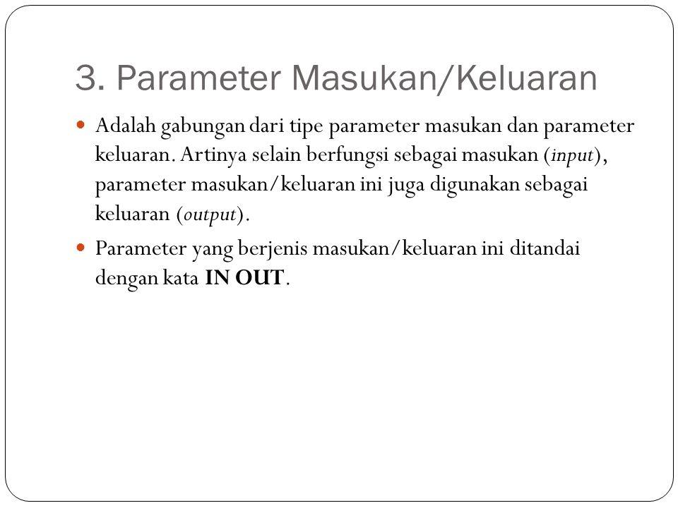 3. Parameter Masukan/Keluaran