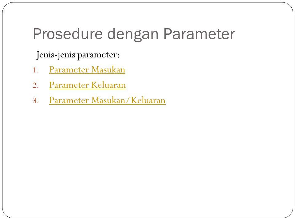 Prosedure dengan Parameter