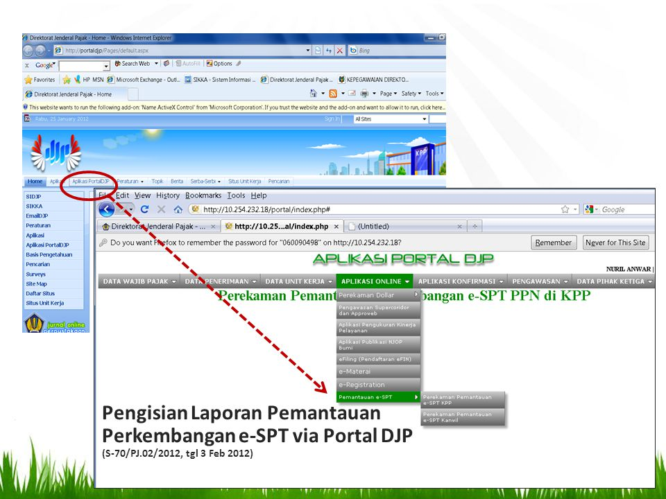 Pengisian Laporan Pemantauan Perkembangan e-SPT via Portal DJP