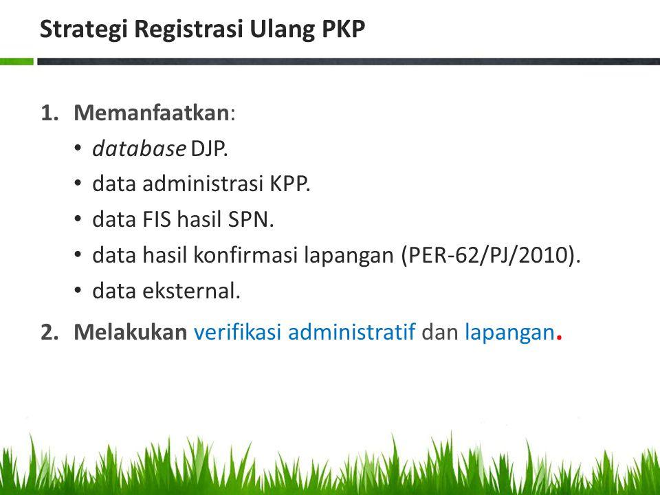 Strategi Registrasi Ulang PKP