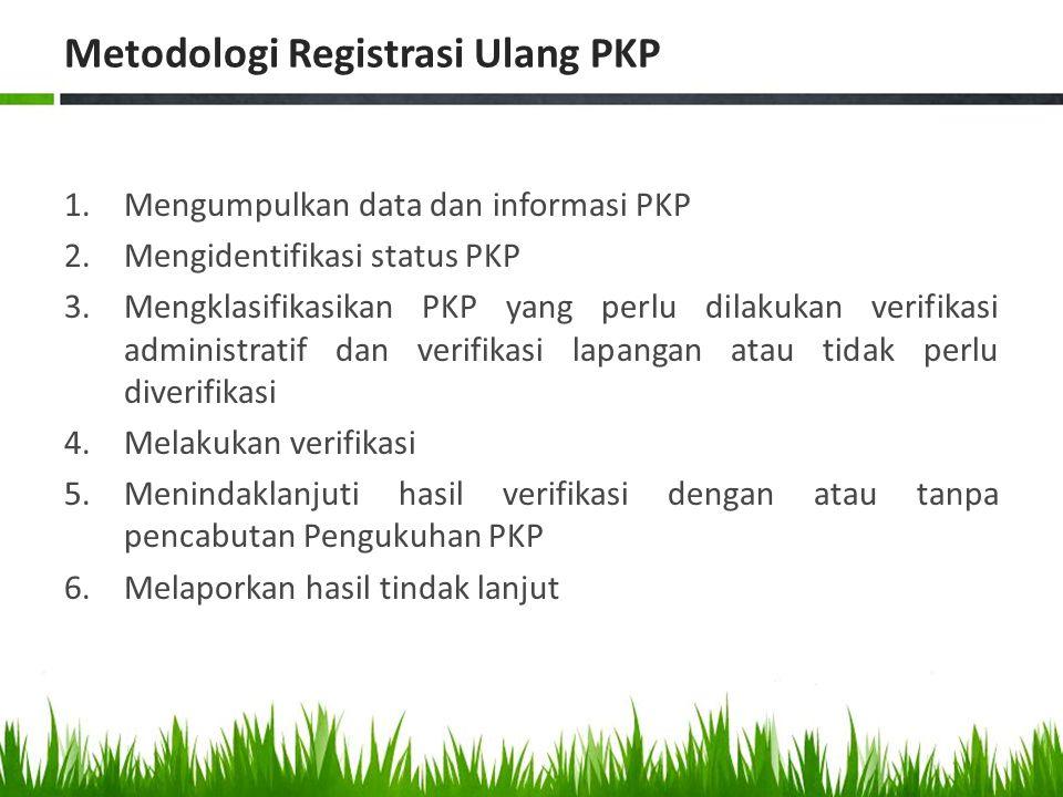 Metodologi Registrasi Ulang PKP