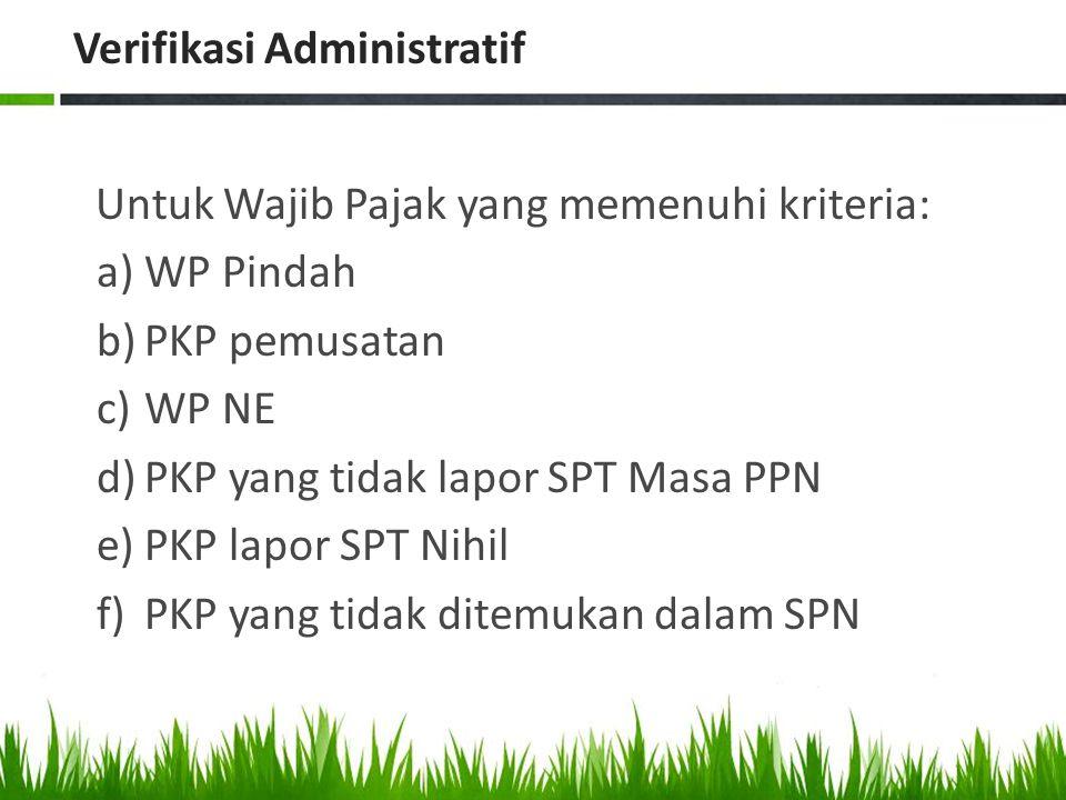 Verifikasi Administratif
