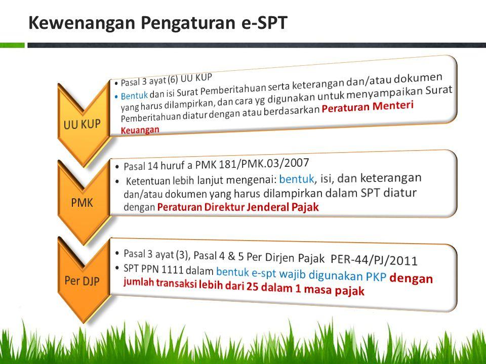 Kewenangan Pengaturan e-SPT