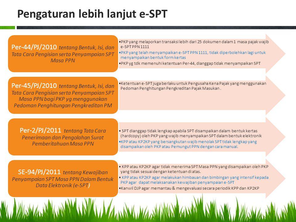 Pengaturan lebih lanjut e-SPT