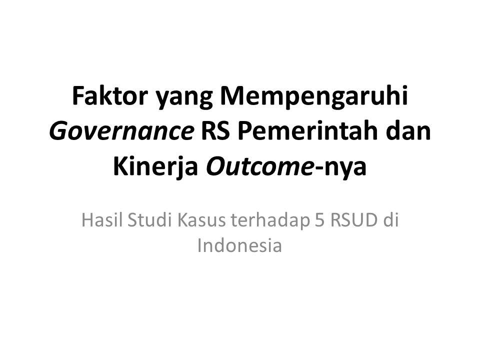 Hasil Studi Kasus terhadap 5 RSUD di Indonesia