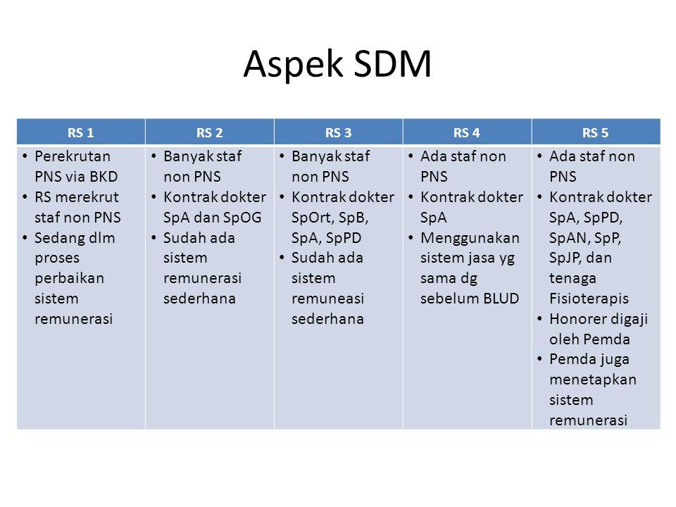 Aspek SDM Perekrutan PNS via BKD RS merekrut staf non PNS