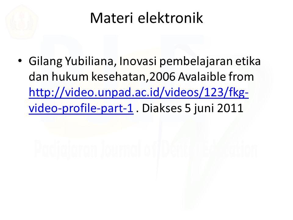 Materi elektronik