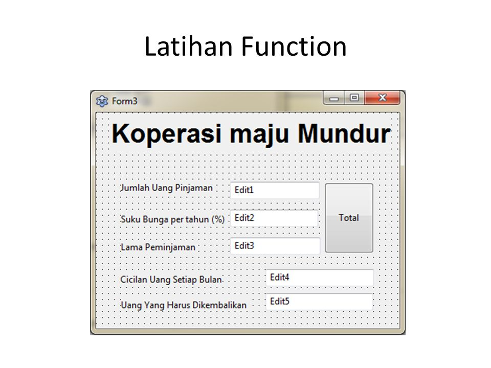 Latihan Function
