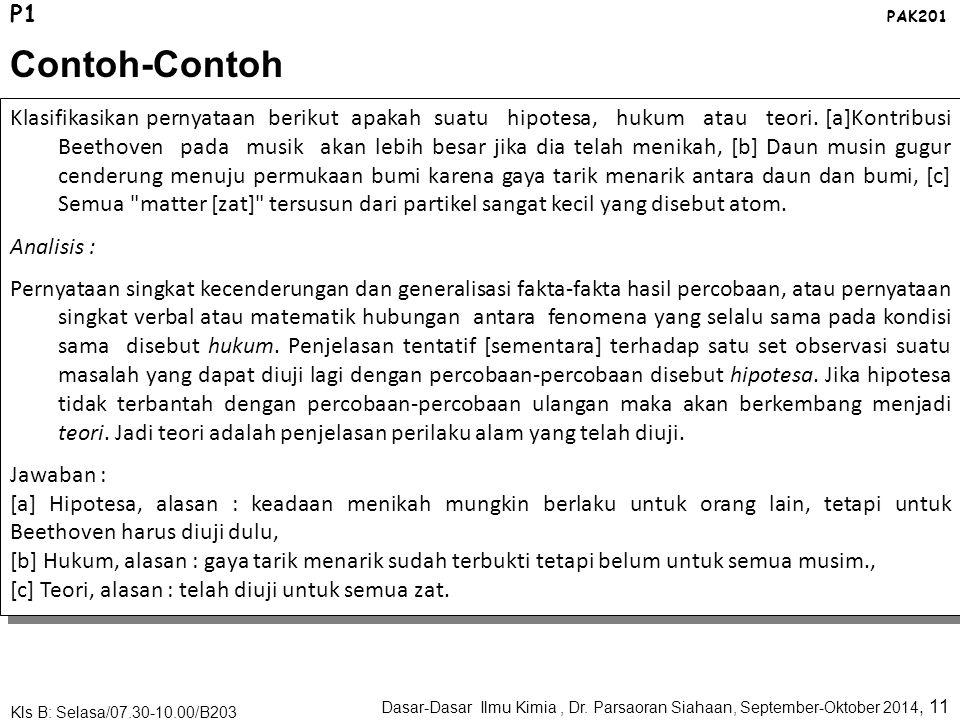 P1 PAK201. Contoh-Contoh.