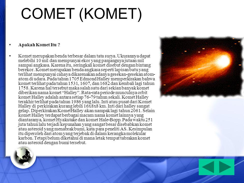 COMET (KOMET) Apakah Komet Itu