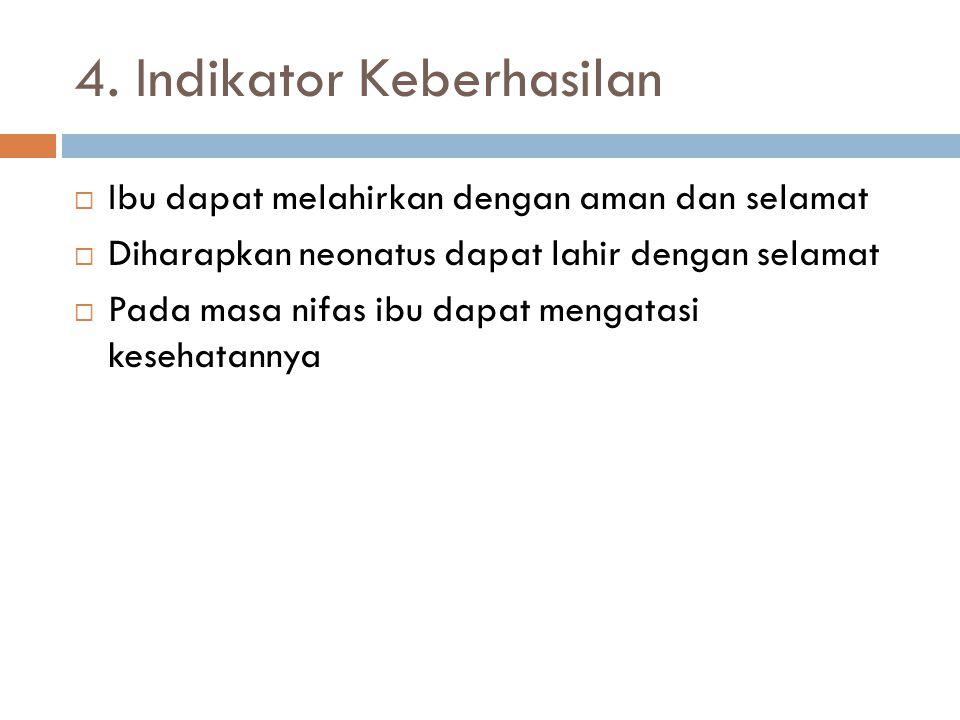 4. Indikator Keberhasilan