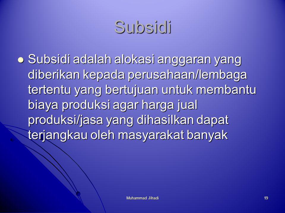 Subsidi