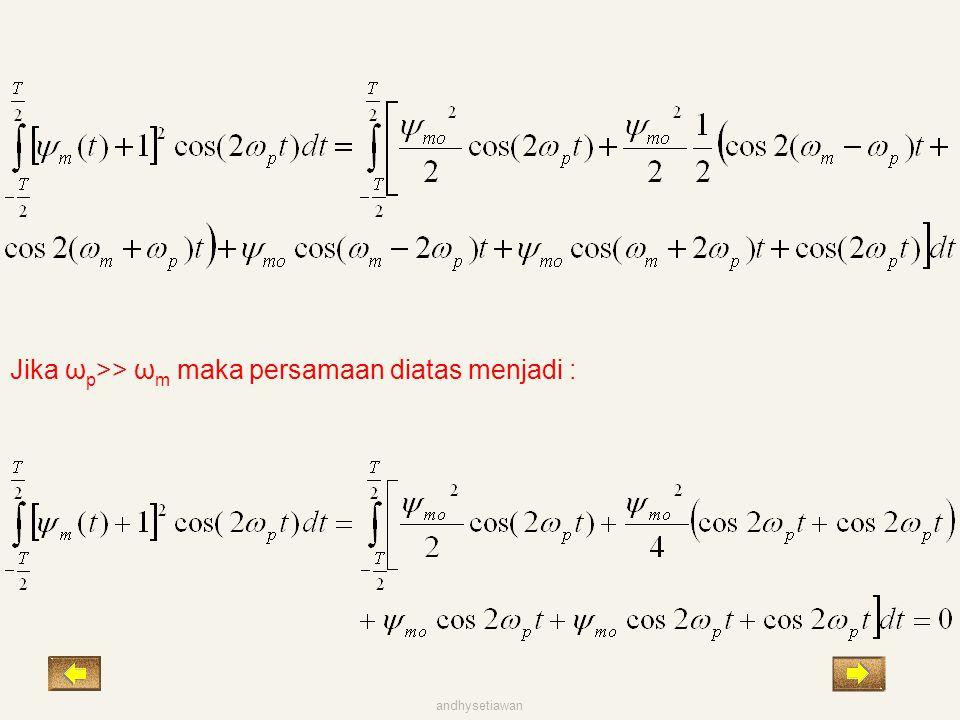 Jika ωp>> ωm maka persamaan diatas menjadi :