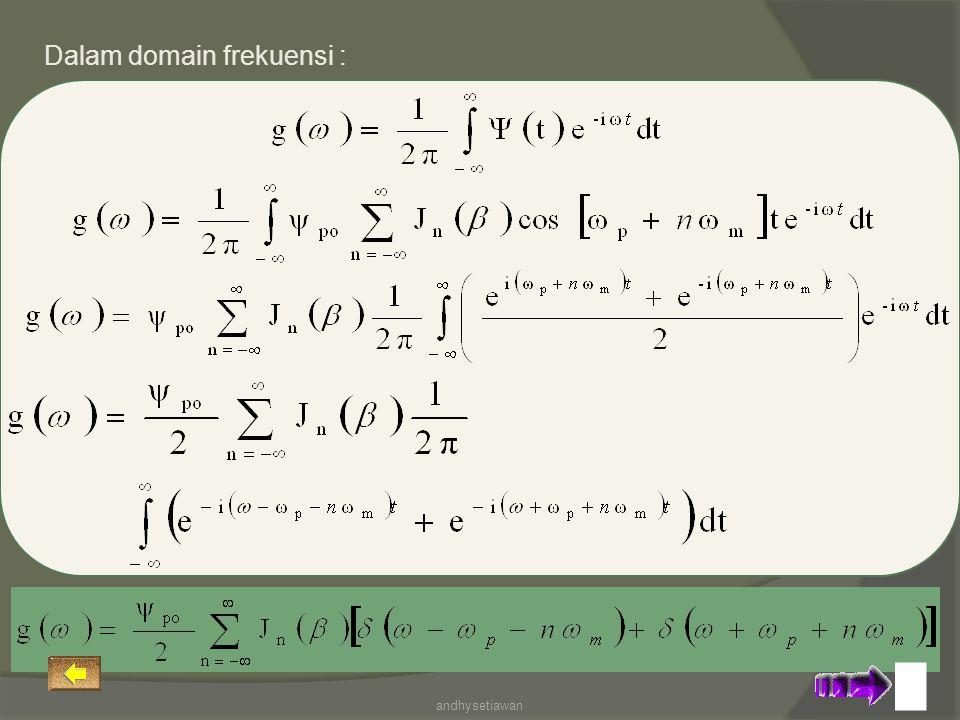 Dalam domain frekuensi :