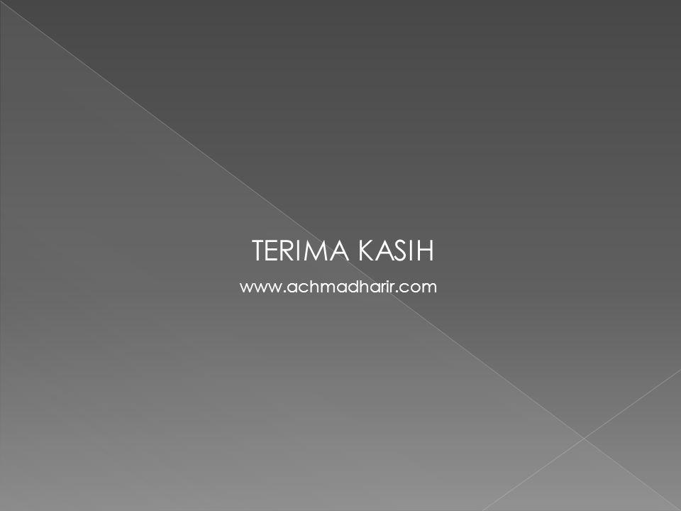TERIMA KASIH www.achmadharir.com