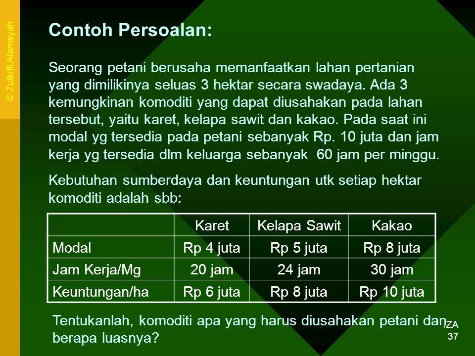 Contoh Persoalan: © Zulkifli Alamsyah.