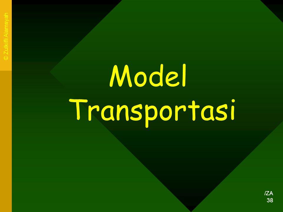 © Zulkifli Alamsyah Model Transportasi /ZA
