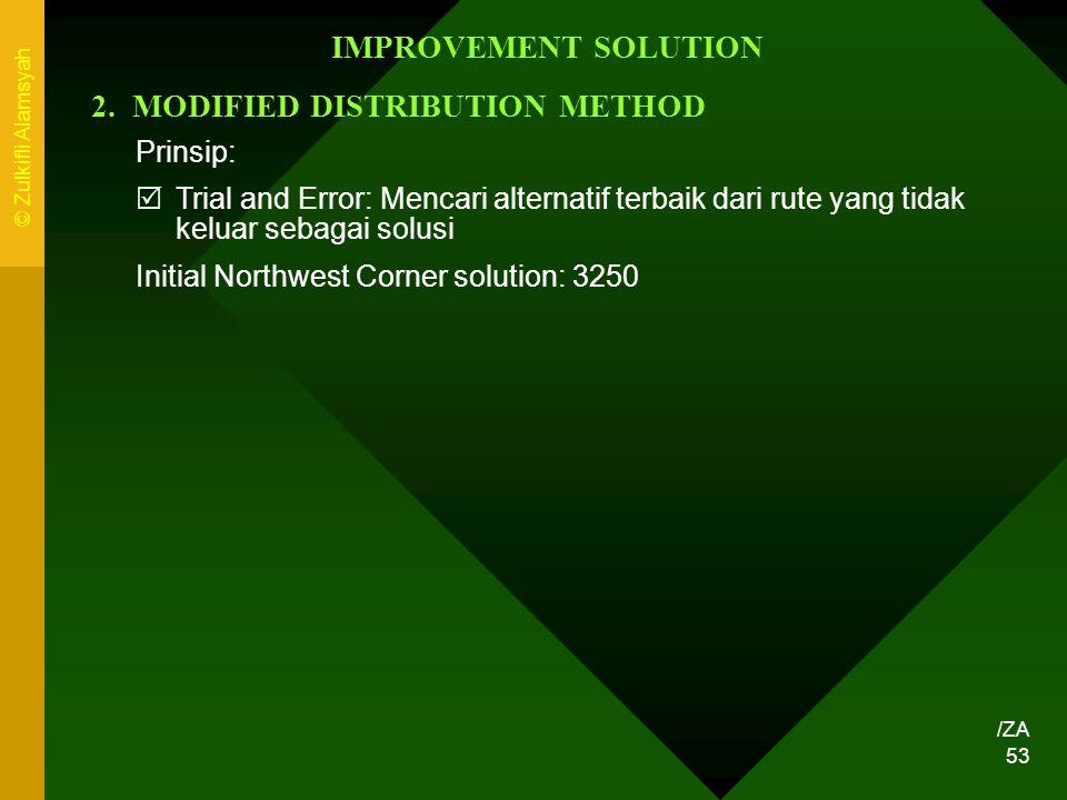 2. MODIFIED DISTRIBUTION METHOD