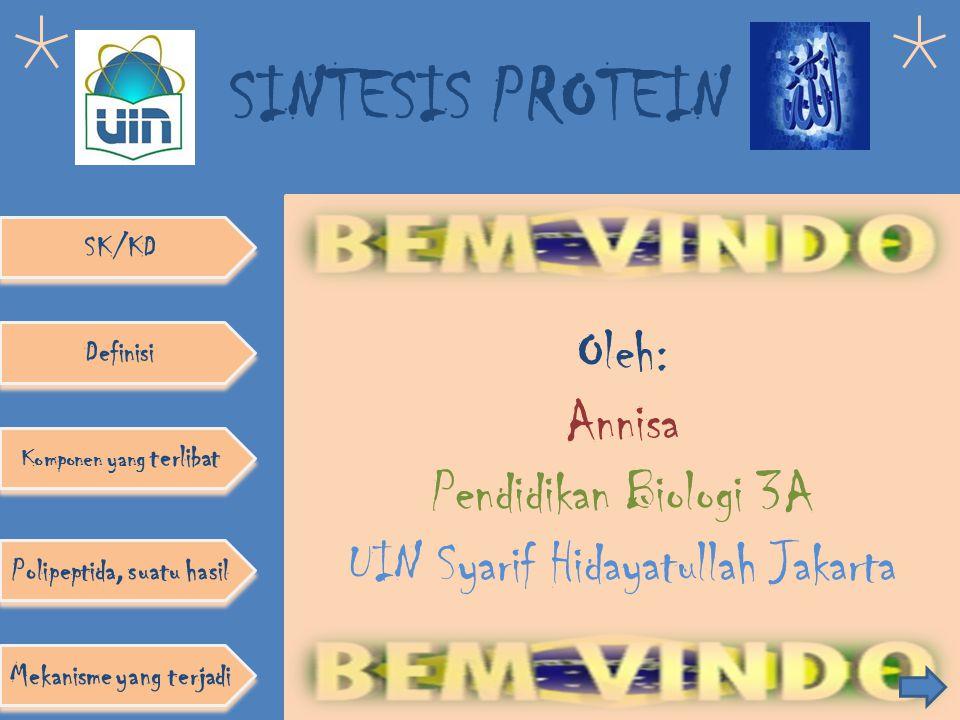 Oleh: Annisa Pendidikan Biologi 3A UIN Syarif Hidayatullah Jakarta