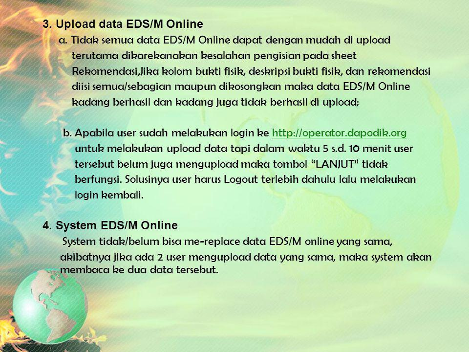 3. Upload data EDS/M Online
