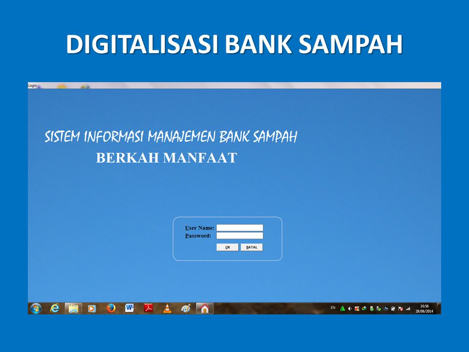 DIGITALISASI BANK SAMPAH