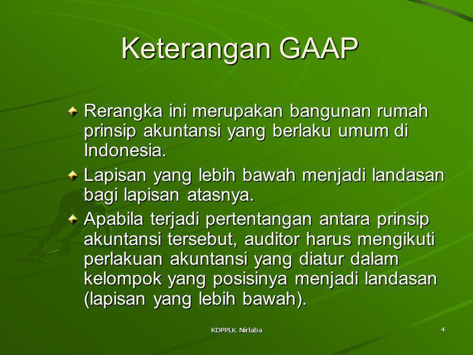 Keterangan GAAP Rerangka ini merupakan bangunan rumah prinsip akuntansi yang berlaku umum di Indonesia.