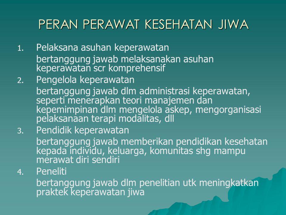 PERAN PERAWAT KESEHATAN JIWA