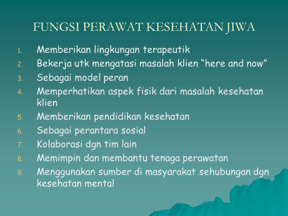 FUNGSI PERAWAT KESEHATAN JIWA