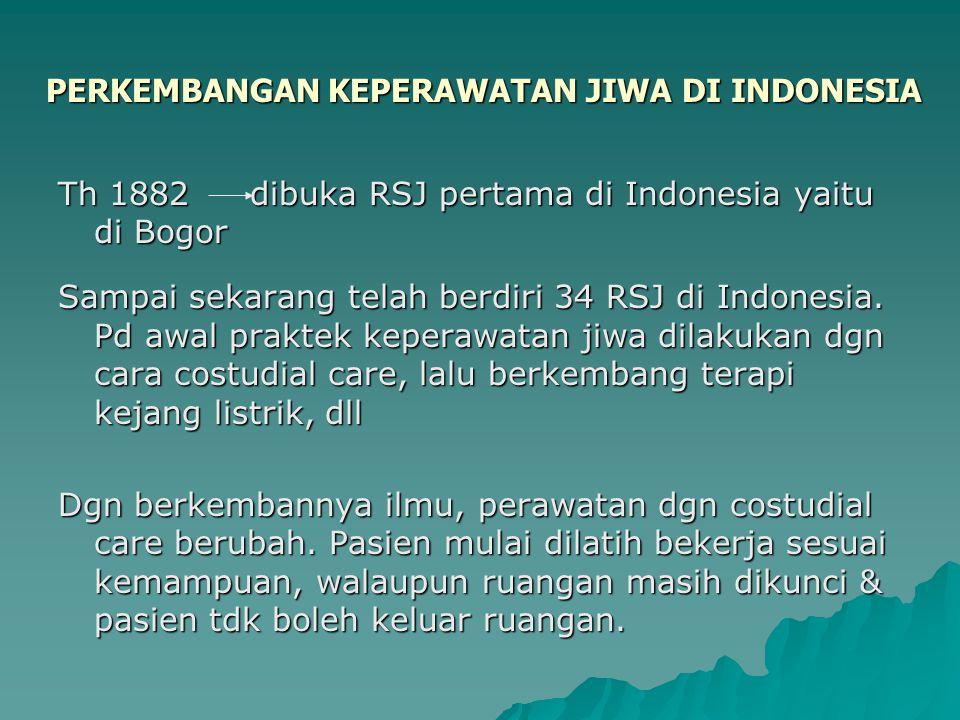 PERKEMBANGAN KEPERAWATAN JIWA DI INDONESIA