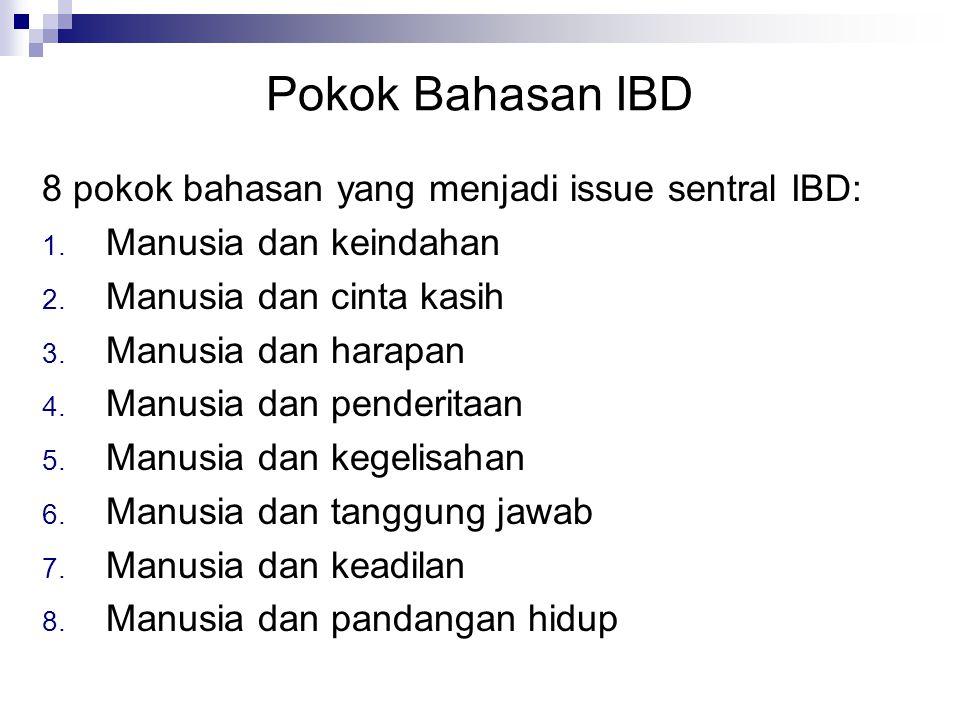 Pokok Bahasan IBD 8 pokok bahasan yang menjadi issue sentral IBD: