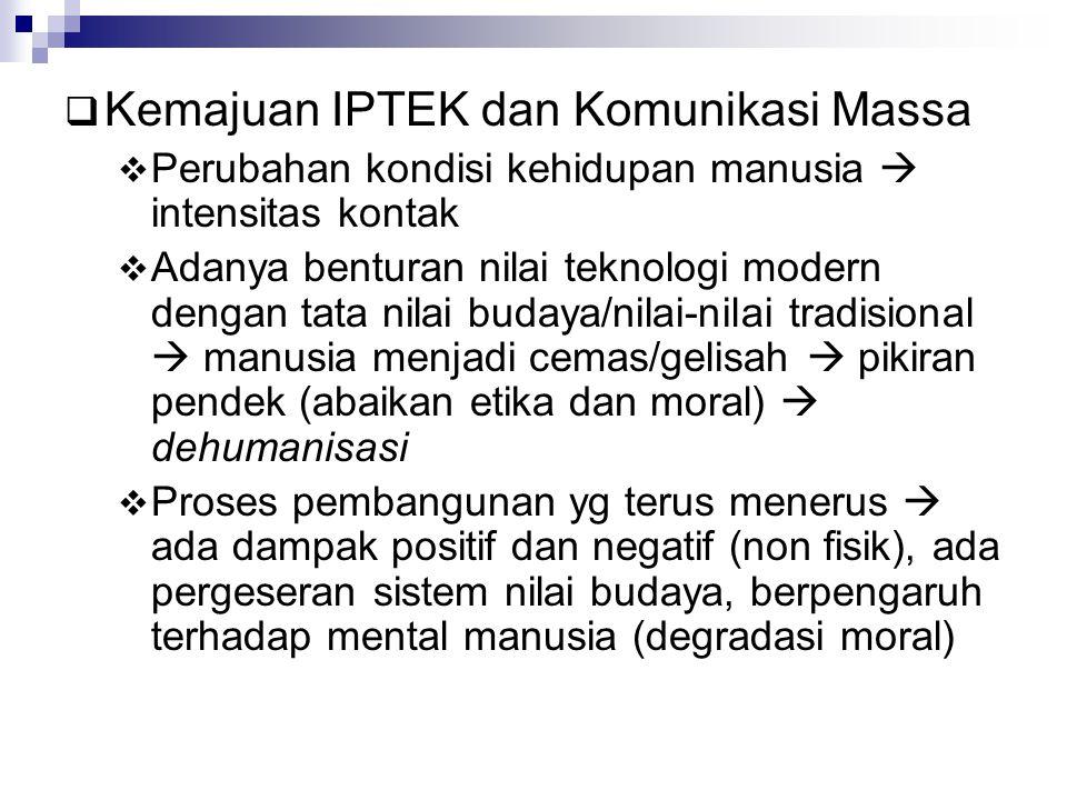 Kemajuan IPTEK dan Komunikasi Massa