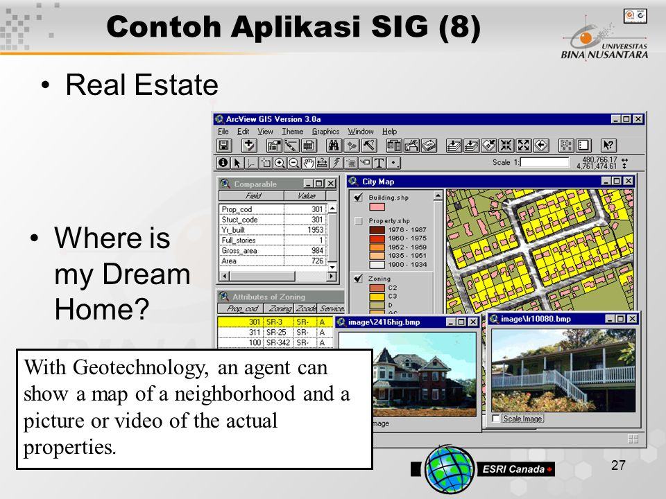 Contoh Aplikasi SIG (8) Real Estate Where is my Dream Home