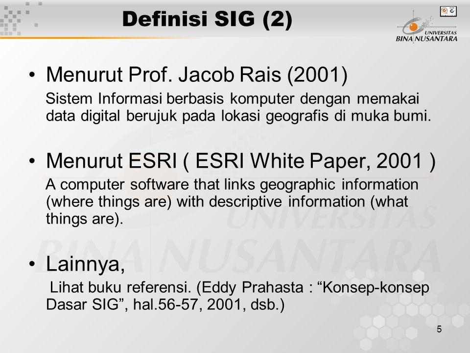 Menurut Prof. Jacob Rais (2001)