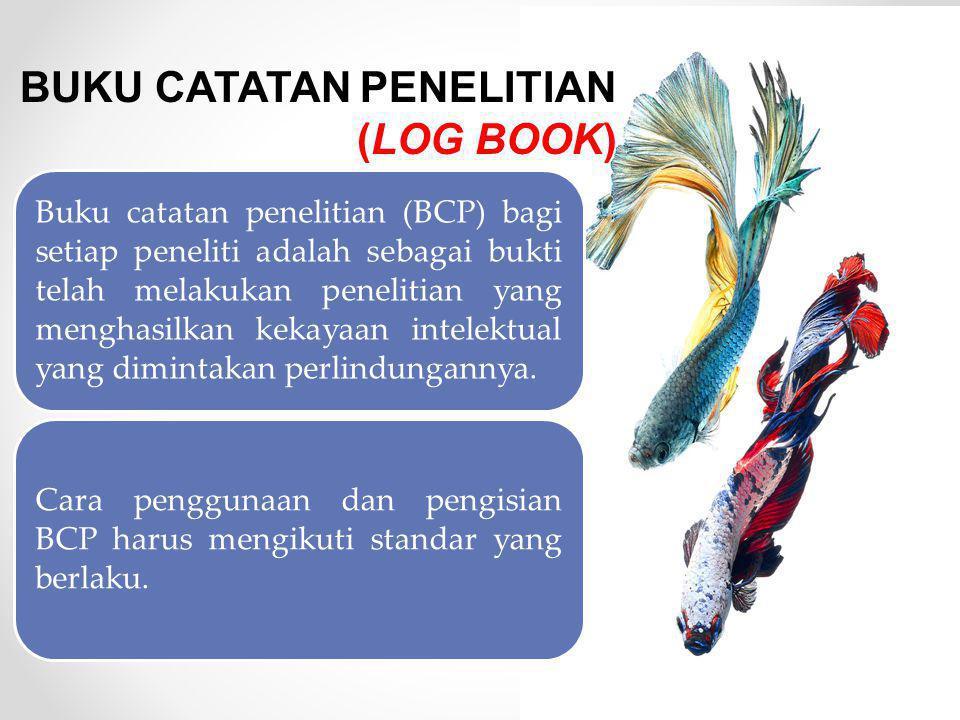 BUKU CATATAN PENELITIAN (LOG BOOK)
