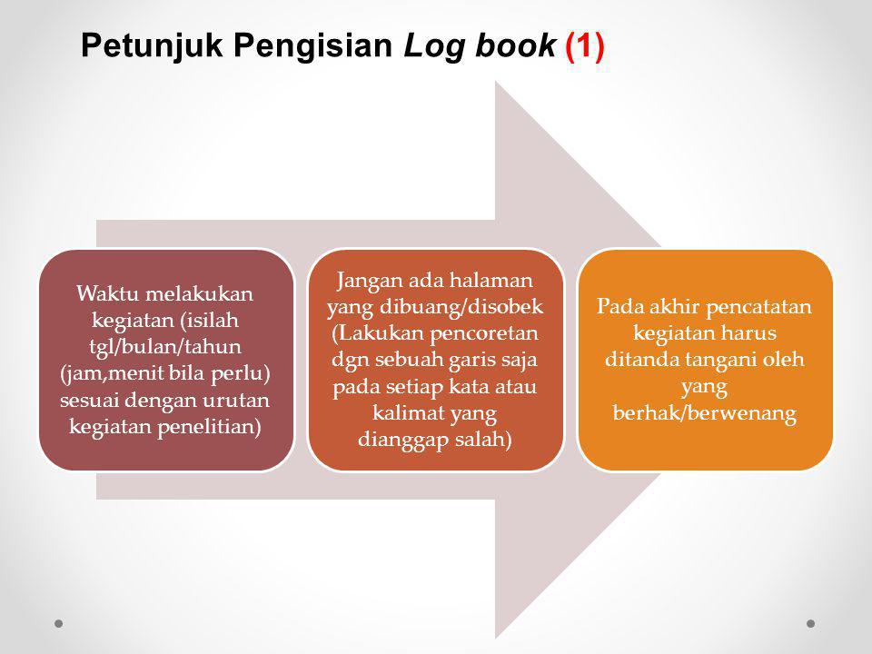Petunjuk Pengisian Log book (1)