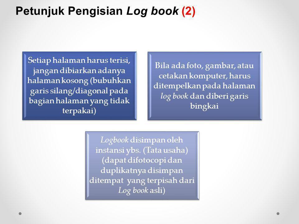 Petunjuk Pengisian Log book (2)