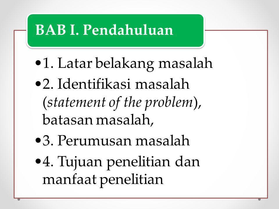 1. Latar belakang masalah