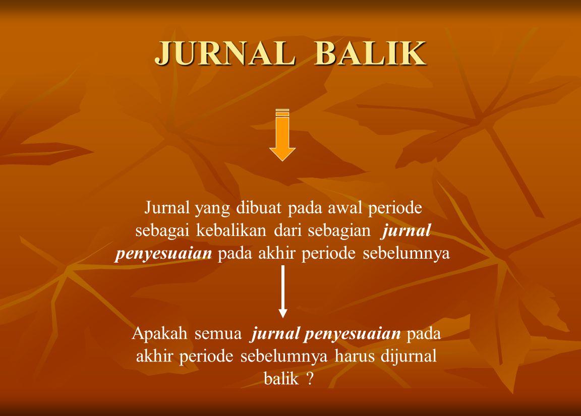 JURNAL BALIK Jurnal yang dibuat pada awal periode