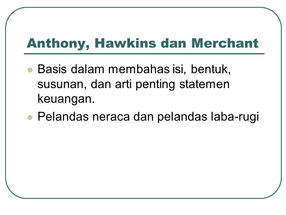 Anthony, Hawkins dan Merchant