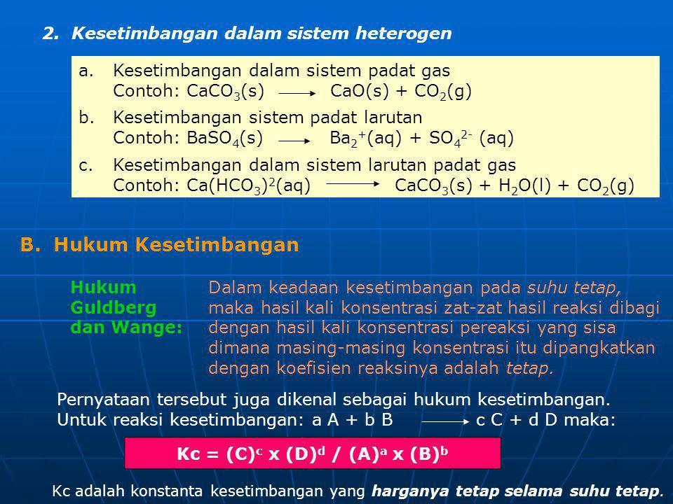 Kc = (C)c x (D)d / (A)a x (B)b