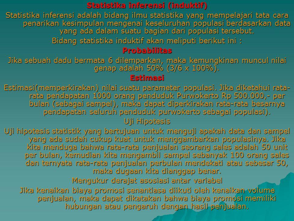 Statistika inferensi (induktif)