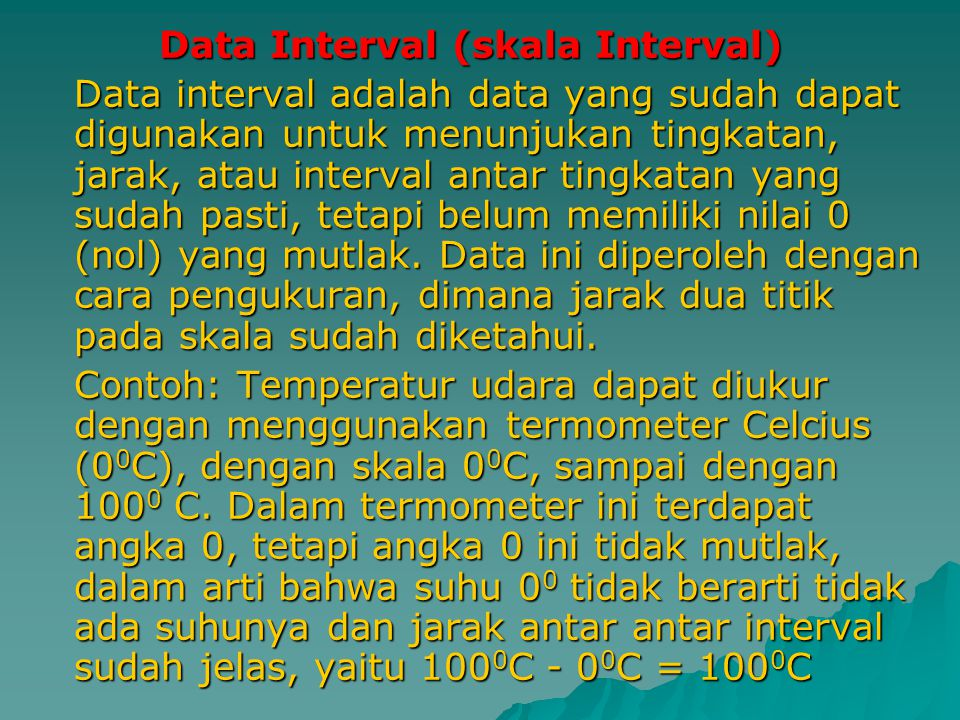 Data Interval (skala Interval)