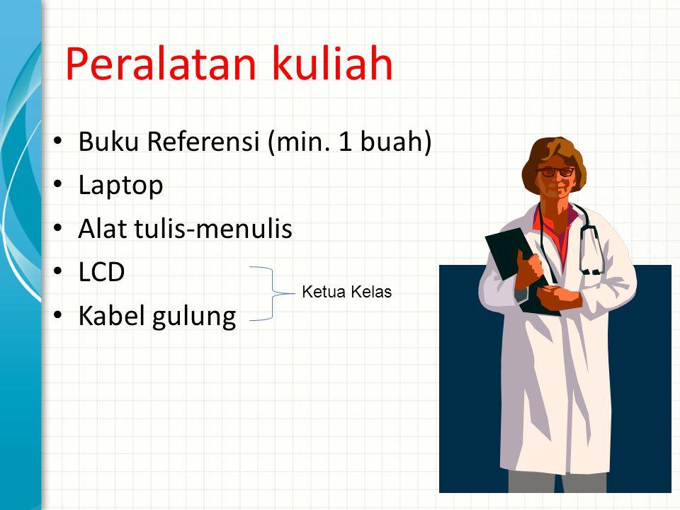 Peralatan kuliah Buku Referensi (min. 1 buah) Laptop