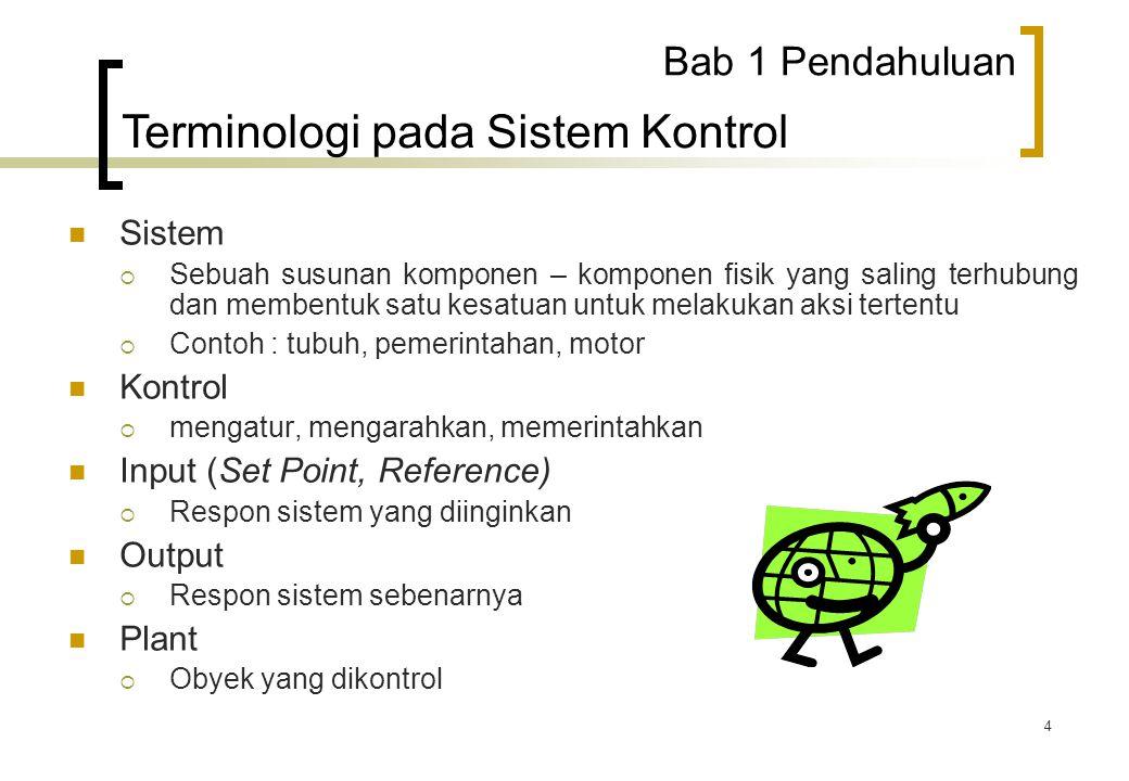 Terminologi pada Sistem Kontrol
