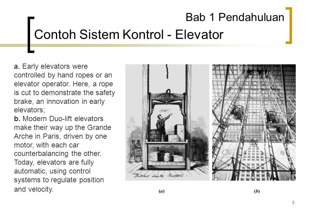 Contoh Sistem Kontrol - Elevator