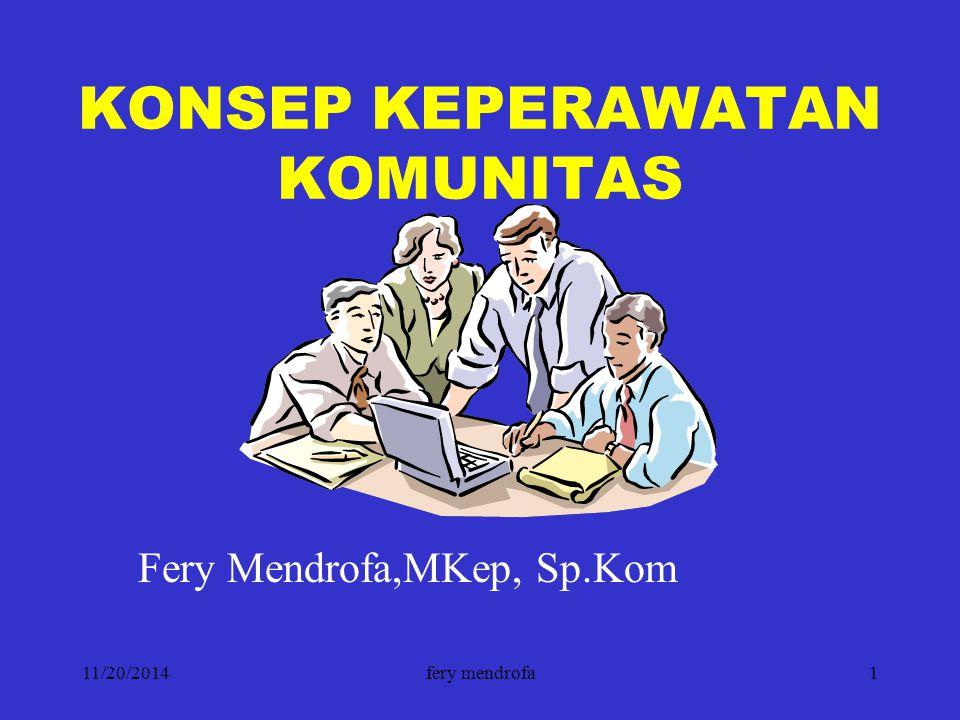 KONSEP KEPERAWATAN KOMUNITAS
