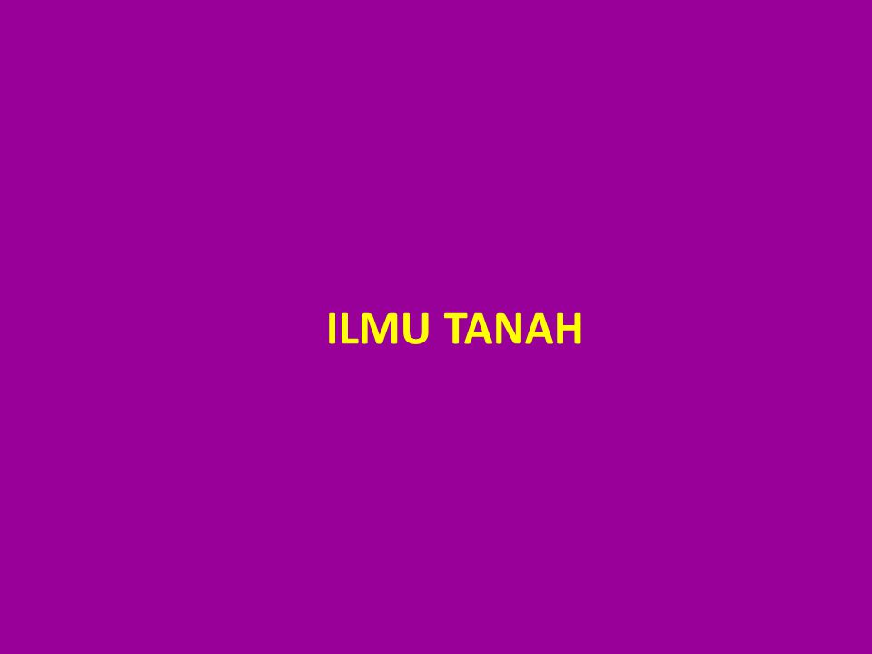 ILMU TANAH
