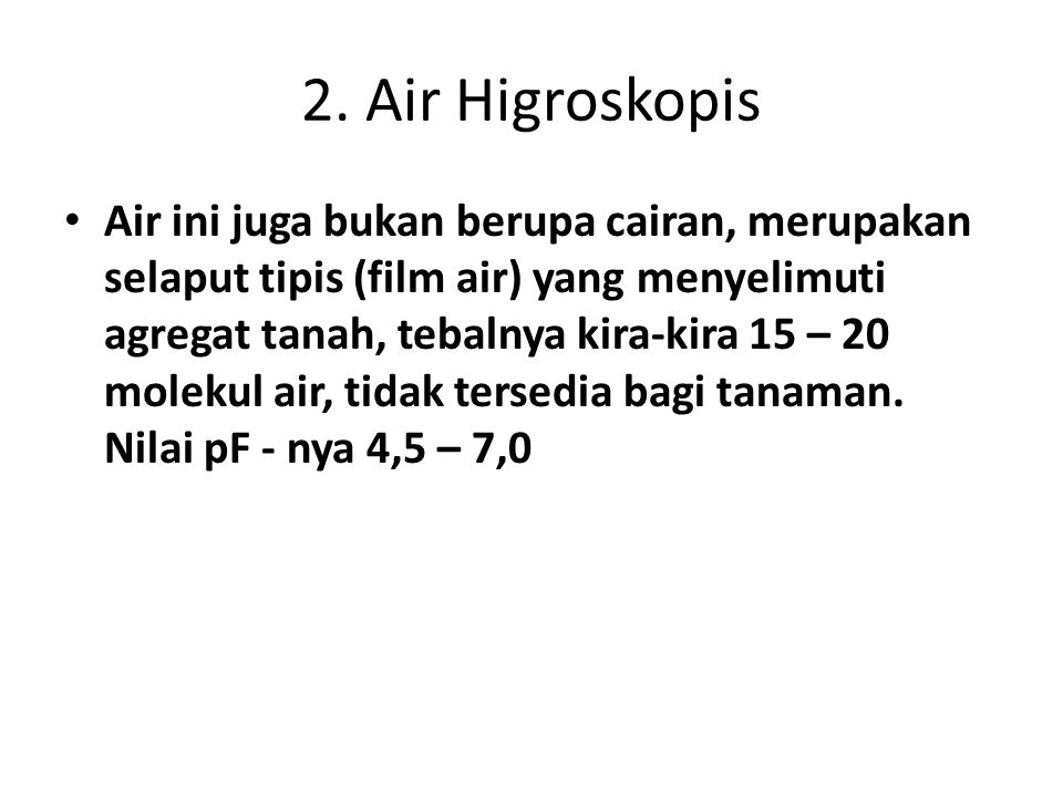 2. Air Higroskopis